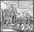 King James VI presiding over North Berwick Witches - From 'Newes from Scotland' (1591)